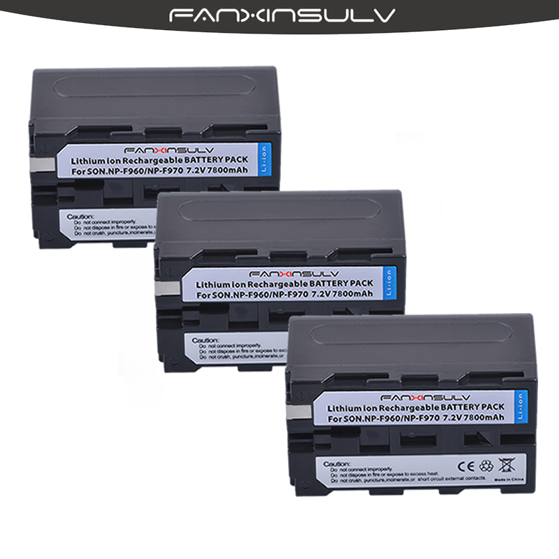 3 True capacity7800mAh NP-F970 Batteries NP F970 F960 Battery For sony HXR-NX3 dcrvx2100 hdrfx1 fx7 hd1000u hvrz1u pm092 <font><b>mc2500</b></font> image
