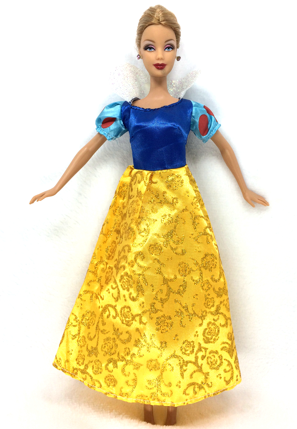 NK One Set Princess Doll Dress Similar Fairy Tale Snow white Wedding Dress Gown Party Outfit For Barbie Doll Best Girls' Gift d0372 best girl gift 50cm kurhn princess doll with large wedding dress gift luxury dress set handemade romantic bride 06