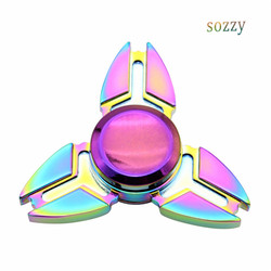 Edc fidget spinner rainbow tri spiner toys metal hand spinner metal adhd adult stress relief toys.jpg 250x250