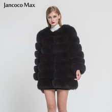 Jancoco Max 2019 Womens Winter Warm Thick Real Fox Fur Coat 7 Rows Natural Jacket Lady Fashion Outerwear New Arrival S7203