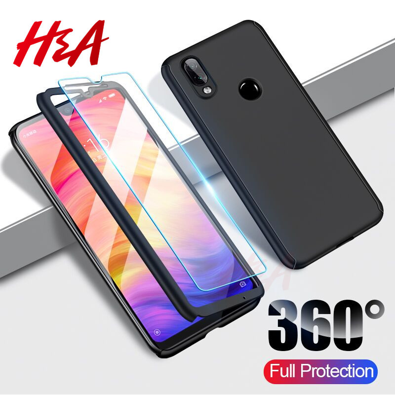 H&A Luxury 360 Full Protection Case For Xiaomi Redmi Note 7 Pro Cover Case For Xiaomi Redmi Note 7 Phone Case Screen Protector(China)