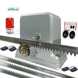 Galo 220В автоматический Электрический Слайд-оператор привода для открывания ворот Мотор для раздвижных дверей, ворот 1800 кг с 4 м 5 м 6 м рейки 1 д...