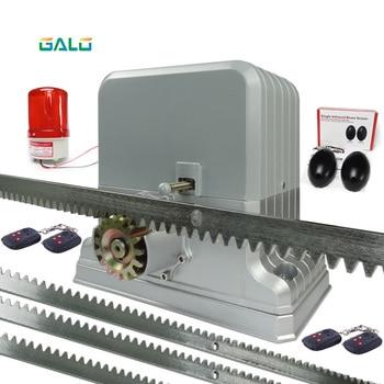 цена на Galo 220V automatic electric slide gate opener operator motor sliding door gate 1800kg with 4m 5m 6m rack rails 1 sensor 1 lamp