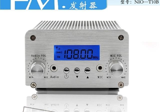 10w fm transmitter intelligent pc control fm wireless. Black Bedroom Furniture Sets. Home Design Ideas