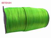 2.5 milímetros de Néon Verde Rattail Cabo De Nylon + 250 m/roll Acessórios Jóias Macrame Beading Corda Pulseira Nó Chinês fio