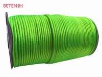 Cordón de nailon verde neón de 2,5mm + 250 m/accesorios de joyería de rollo de cuerda de macramé pulsera de cuentas nudo chino hilo de rosca