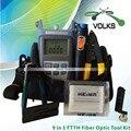 9 в 1 волоконно-оптический FTTH набор инструментов с оптическим измерителем мощности и 10 МВт визуальный локатор