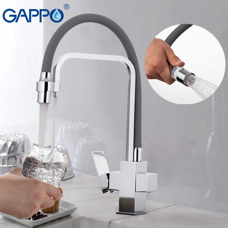 GAPPO смеситель для кухни, смеситель для кухни torneira с фильтрующим краном, латунный кухонный кран для воды, фильтр для крана