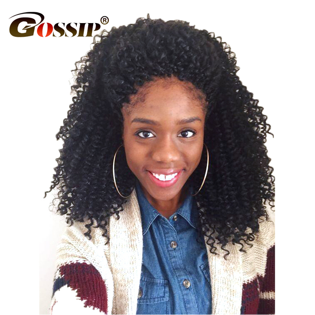 Gossip Hair Afro Kinky Curly Hair Brazilian Hair Weave Bundles Weave