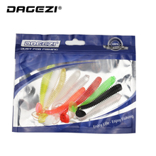 DAGEZI 10pcs/lot Gentle Fishing Lure Swimbaits Jig Head Tail Gentle Lure 7cm/2g Fly Fishing Bait Gentle Synthetic bait