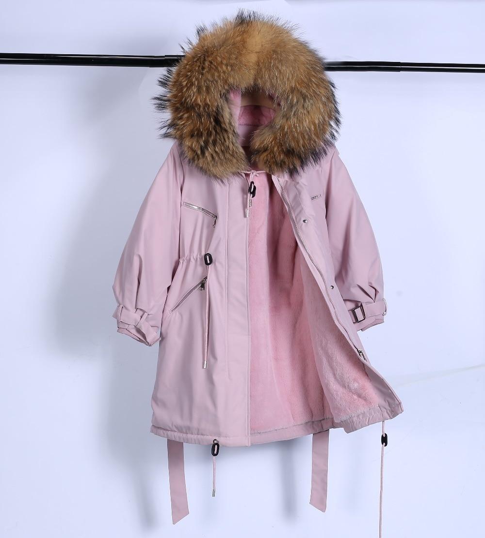 Large Natural Raccoon Fur Winter Jacket Women Hooded 19 Long Parkas For Female Thick Slim Down Winter Coat Women Waterproof 18