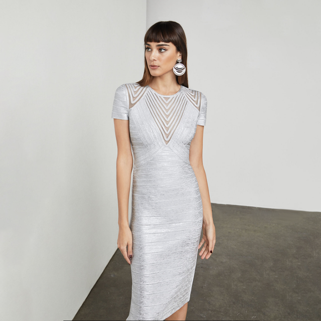 Knitted Silver Dresses