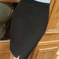 Split Vintage Bodycon Skirt High Waist Women Knee Length Pencil Skirt OL Office Elegant Business Plus
