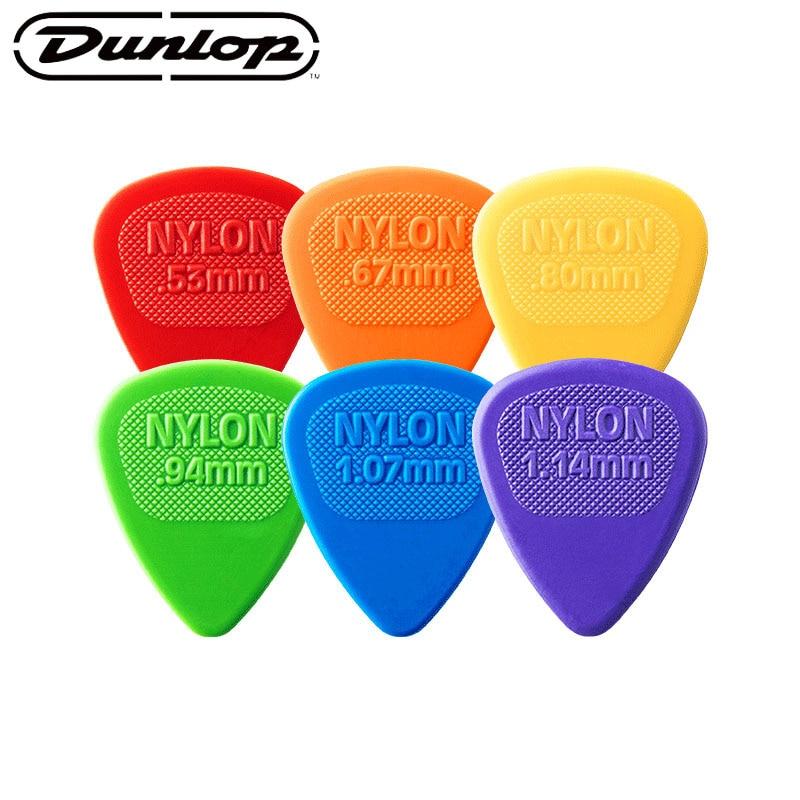 Dunlop Colorful Guitar Picks Bass Mediator Acoustic Electric Accessories Classic Nylon Guitar Picks 0.53/0.67/0.94/1.07/1.14mm