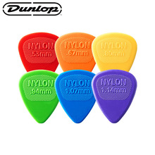 Dunlop colorful Guitar Picks Bass Mediator Acoustic Electric Accessories Classic Nylon 0.53/0.67/0.94/1.07/1.14mm