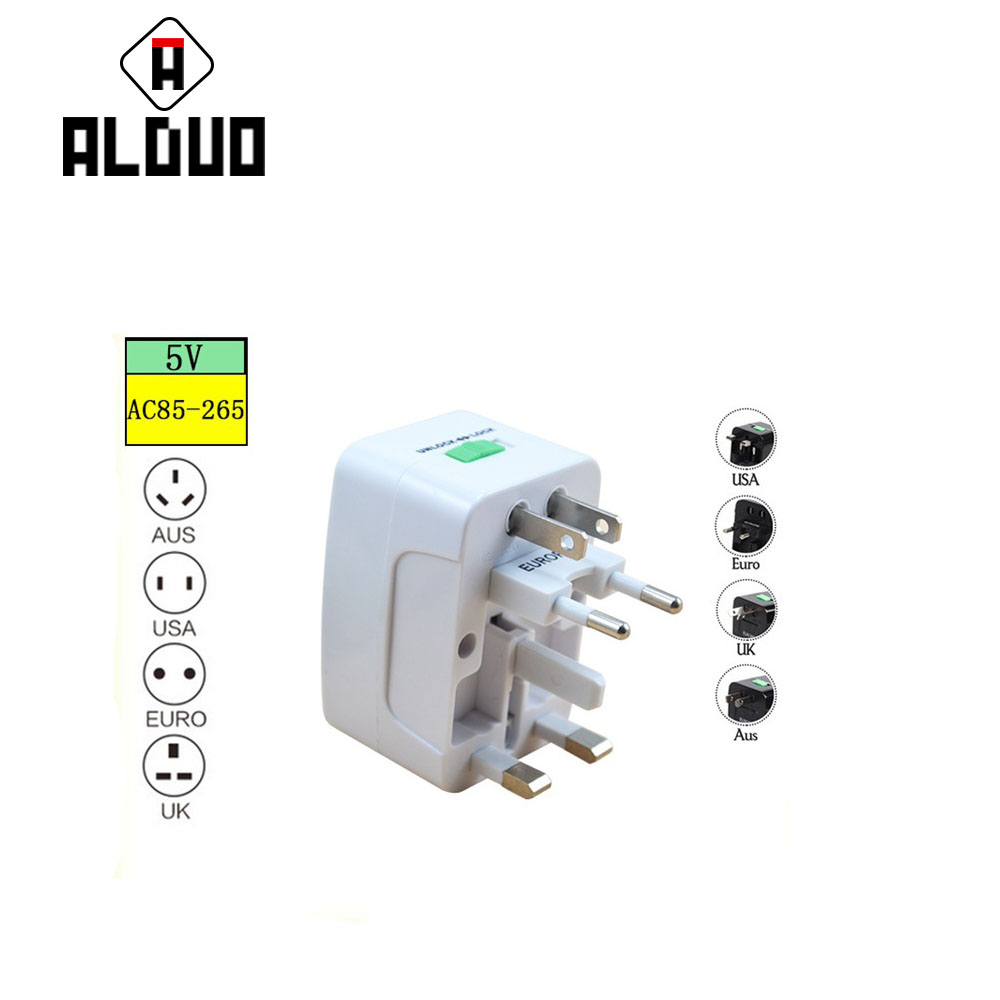 ALANGDUO Global transformation plug Adapter Travel Wall <font><b>Charger</b></font> Adapter Smart <font><b>Mobile</b></font> Phone <font><b>Charger</b></font> for iPhone For Samsung S8