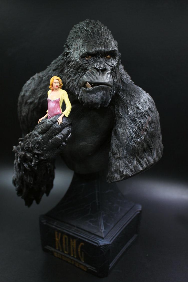 US $113 03 OFF [Lucu] 30 Cm King Kong Skull Island Orangutan Dan Wanita Mewarnai Resin Sosok Patung Mainan Koleksi Model Meja Dekorasi Hadiah Aksi