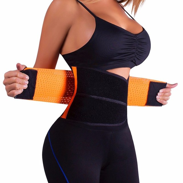 Plus Size Hot Sweat Belt Slim Waist Trainer Waist Support Belt Faja Lumbar Waist Support Brace Belt Women Shapewear Corset 1