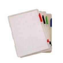 4 шт./лот) чехол для документов, органайзер, файл, пластиковая папка, чехол для документов, прозрачная коробка, офисные принадлежности, уголок радости