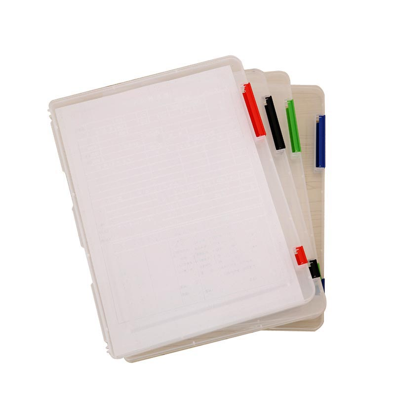 (4 Pieces/Lot) Document Case Organizer File Plastic Folder Case For Documents Transparent Box Office Supply