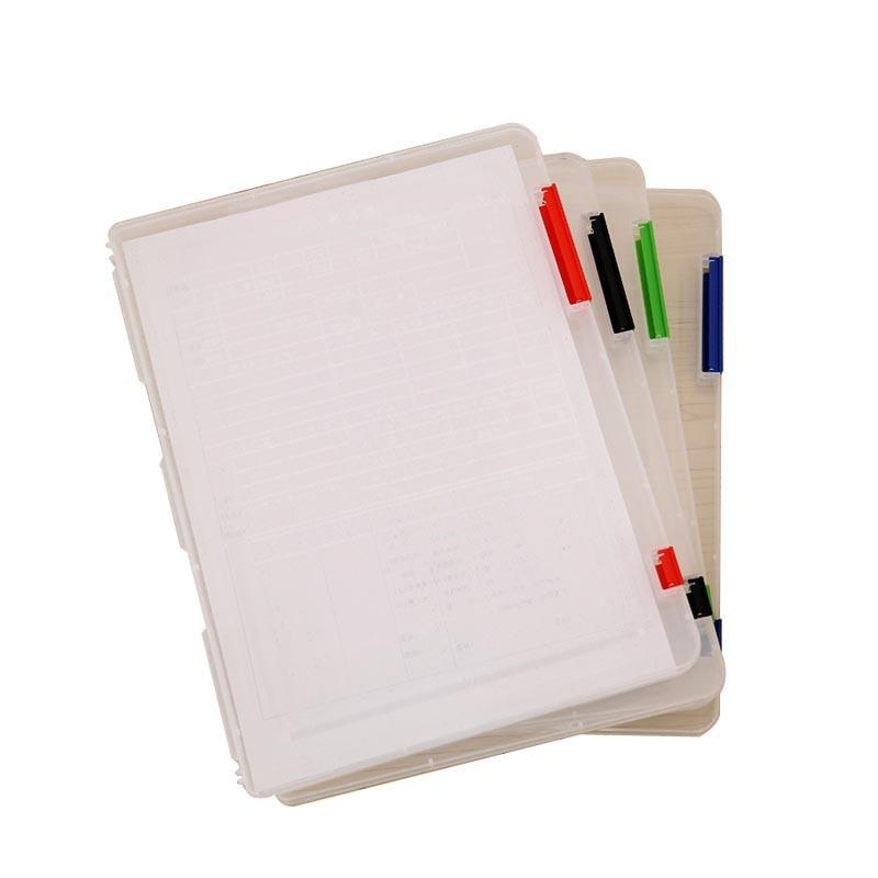 (4 Pieces/Lot) Document Case Organizer File Plastic Folder Case For Documents Transparent Box Office Supply Joy Corner