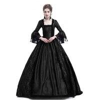 Викторианский готический грузинской период платье бархат стекались платье Хэллоуин маскарад бальное платье воссоздание Костюмы Rufflet фиол