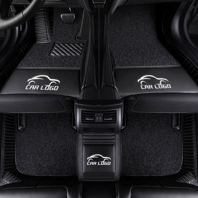 Esteiras do assoalho do carro para o logotipo Toyota Land Cruiser 200 Prado150/120 camry corolla 2007-2018 C-HR 40 desejo estilo do carro forro Personalizado