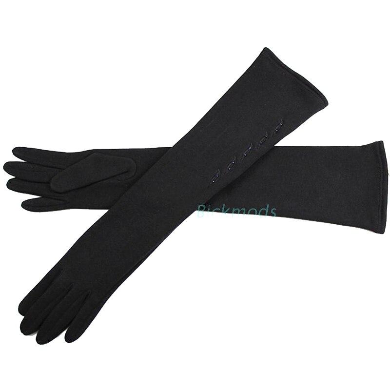 48 cm lange katoenen materiaal dames gebreide handschoenen over de - Kledingaccessoires - Foto 5