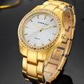 Fashion Women Watches Top Brand Luxury CRRJU Clock female Gold Steel Army Military Quartz Watch Ladies Sport Relogio Masculino