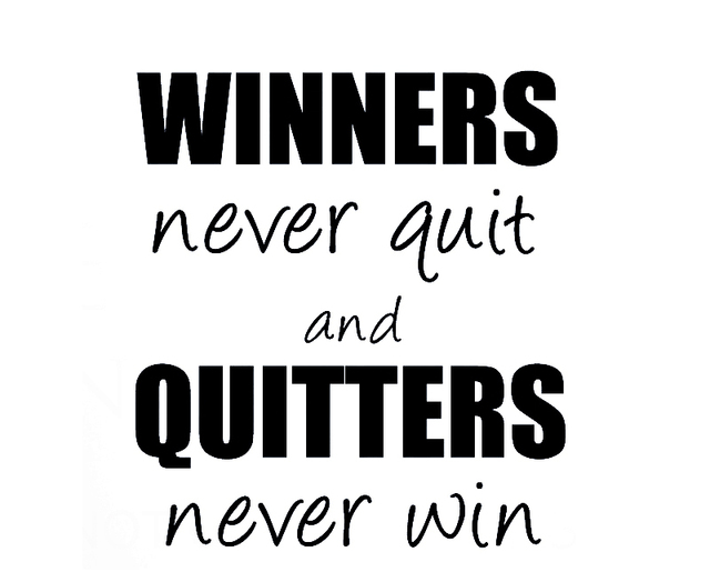 Wall Sticker Decal Quote Vinyl Art Winners Never Quit Quitters Never