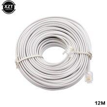 Telefone celular 30m/15m/12m/9m/6m/3m rj11 6p4c conector do cabo de extensão, venda quente