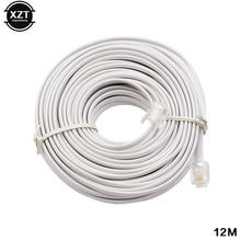 30 M/15 M/12 M/9 M/6 M/3 M RJ11 6P4C teléfono conector de Cable de extensión gran oferta