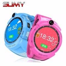 Pegajoso Novo Rastreador GPS Relógio Inteligente Relógio Bebê Criança Q610 360 Toque tela Da Câmera SOS Chamada Dispositivo de Localização para o Miúdo PK Seguro Q50 Q90