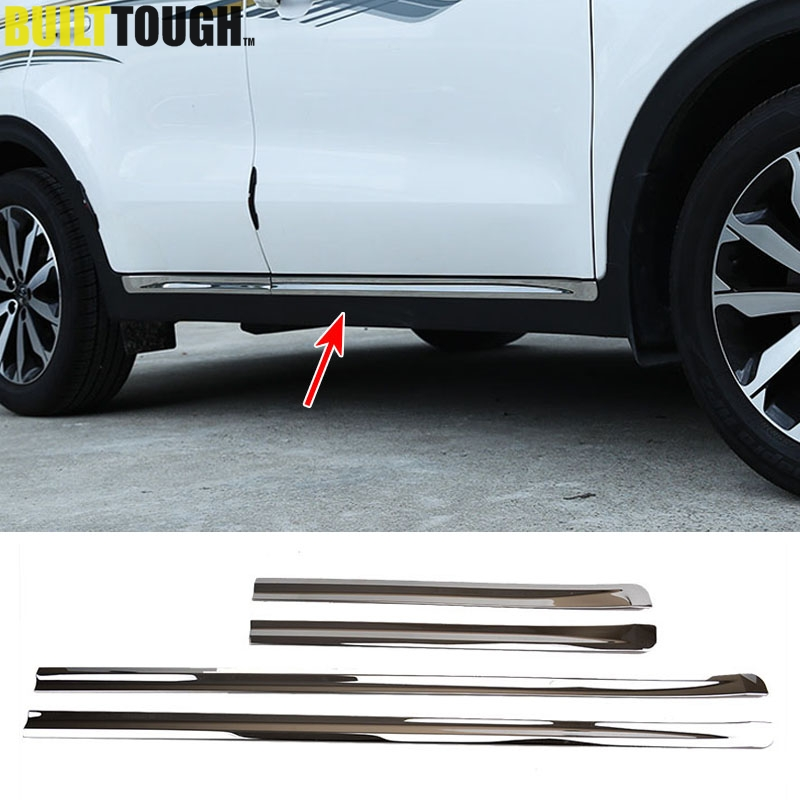 Auto Parts Coupons >> For Kia Sportage QL 2017 2018 Chrome Body Molding Door Side Line Garnish Trim Cover Protector ...