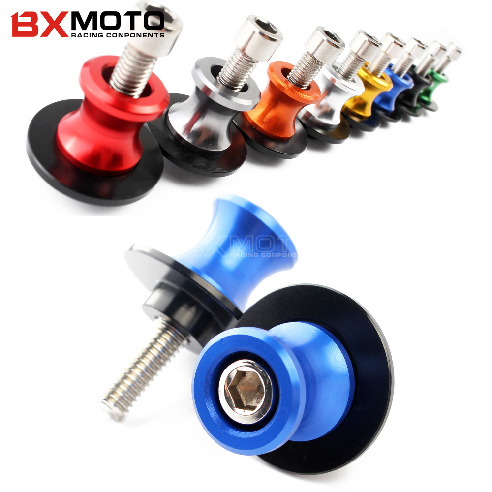 CNC Aluminum Swingarm Spools Slider Universal Rear Motorcycle Stands Screws M8 Bobbins For Honda all model 8 Colors available 2pcs universal motorcycle stand screws cnc swingarm swing sliders spools m6 m8 m10 for yamaha r3 honda crf 450 suzuki gn250