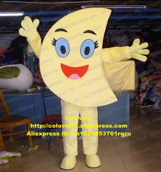 La Luna La Lune Diana Moon Mascot Costume Adult Cartoon Character Outfit Suit Family Outings Opening Reception Zz5767 Costumes & Accessories Novelty & Special Use