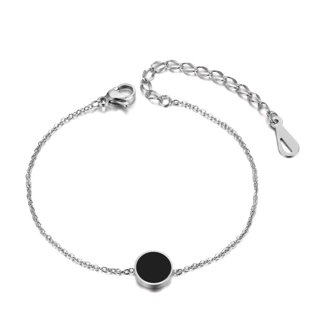 JeeMango Schwarz Acryl Edelstahl Choker Halsketten Charme Armbänder Stud Ohrringe Sets Hochzeit Schmuck Für Frauen JSE001P