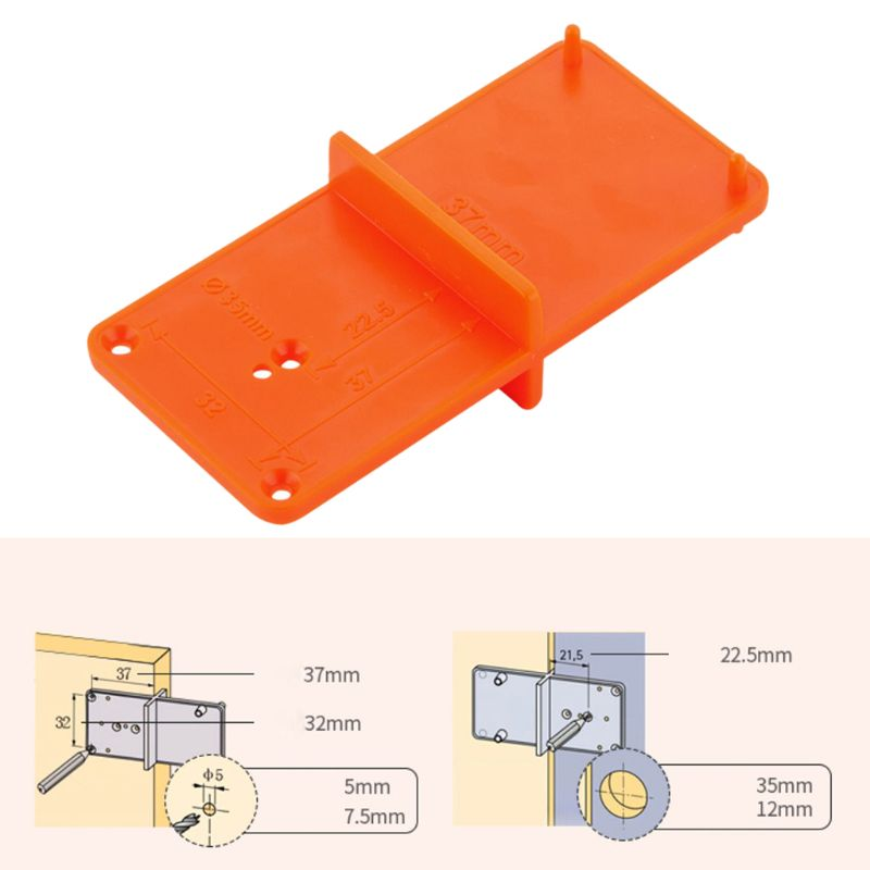 35mm 40mm Hinge Hole Drilling Guide Locator Hole Opener Template Door Cabinets DIY Tool For Woodworking Tools