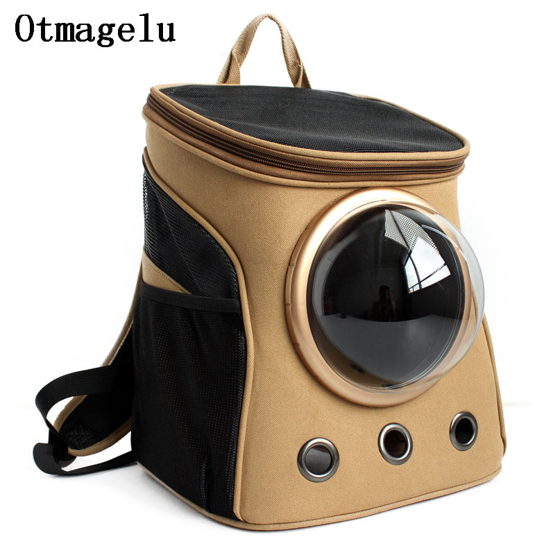 High Quality Canvas Space Capsule Car Cat Backpack Bubble Window for Kitty Puppy Small Dog Carriers Crate Outdoor Travel Bags