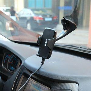 Image 5 - XMXCZKJ רכב מחזיק מהיר אלחוטי מטען לרכב יניקה גביע הר 2 ב 1 מטען אלחוטי נייד טלפון מחזיק עבור iPhone X 8 8 בתוספת