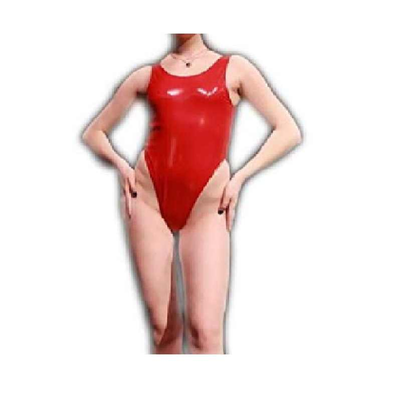 latex  sexy Swimsuits mini dress suit biki bodysuit seamless black and red color