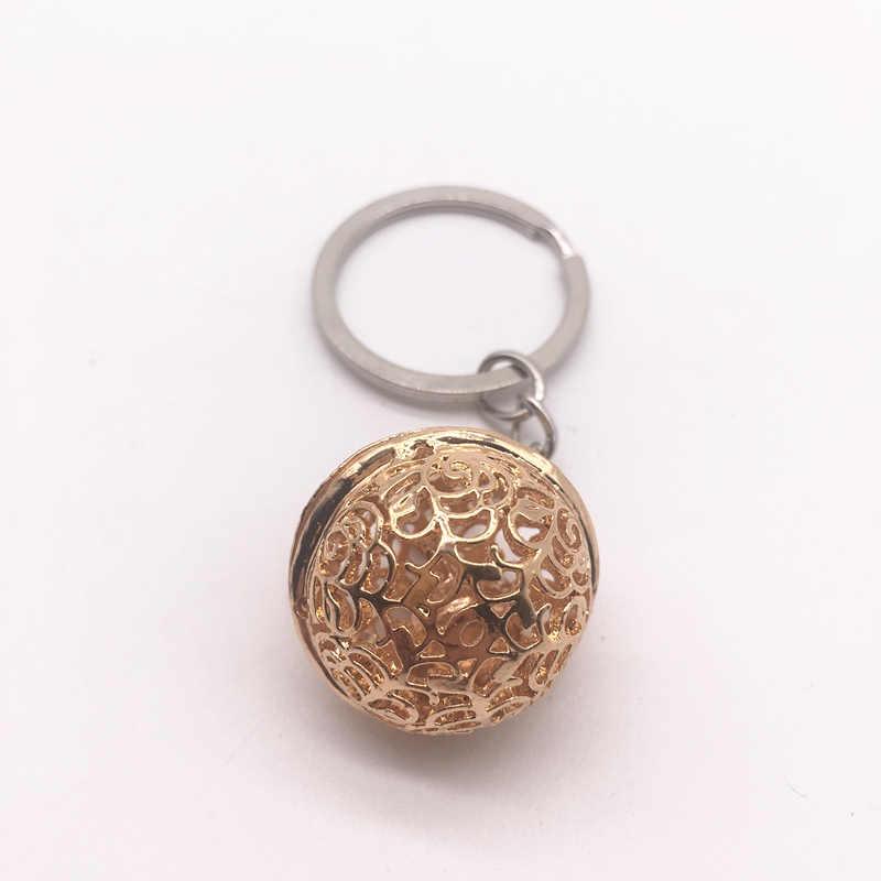 Moda de nova Rosa de Ouro Pequeno Sino Chaveiro Chaveiros Chave Do Carro Corrente De Metal DIY Pingente