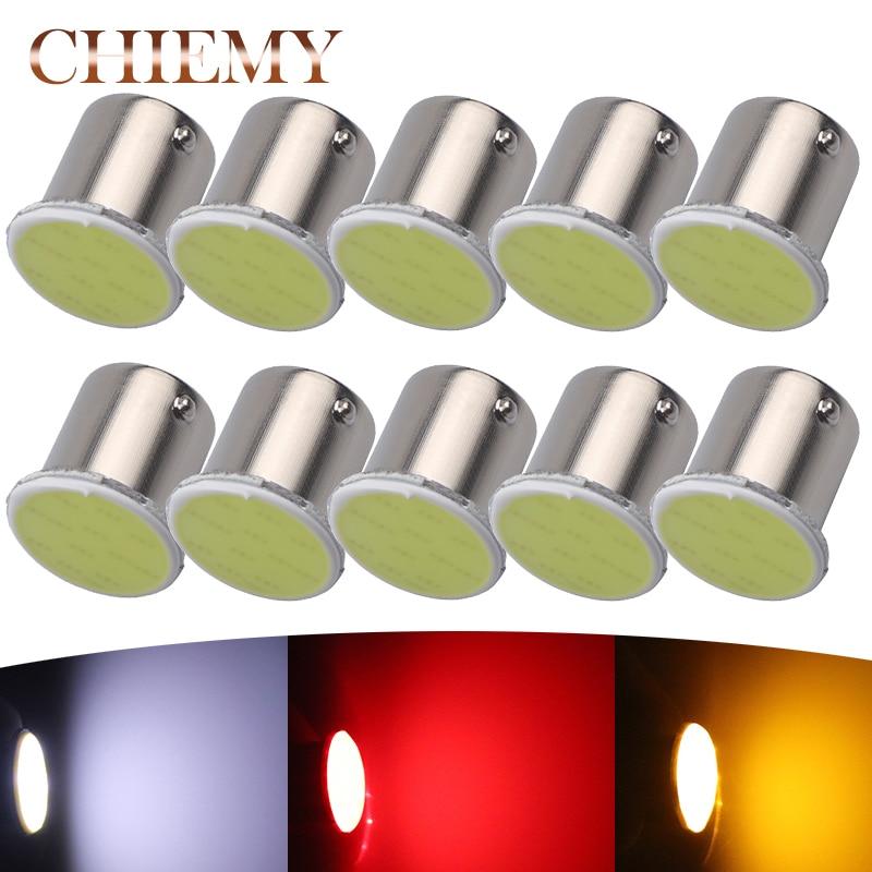 10pcs 1156 BA15S COB S25 12V Bulbs P21W LED Bulbs Vehicle Interior Light Parking Auto Car Lamp super bright DC 12V Car-styling
