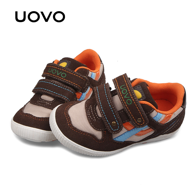 UOVO Autumn Infant Boy Shoes Fashion Flat Kids Casual Sneaker Breathable Hook And Loop Boys Running