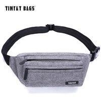 TINYAT Men Male Waist Bag Multifunctional Belt Pack Bag New Adjustable Shoulder Fanny Pack Phone Coin