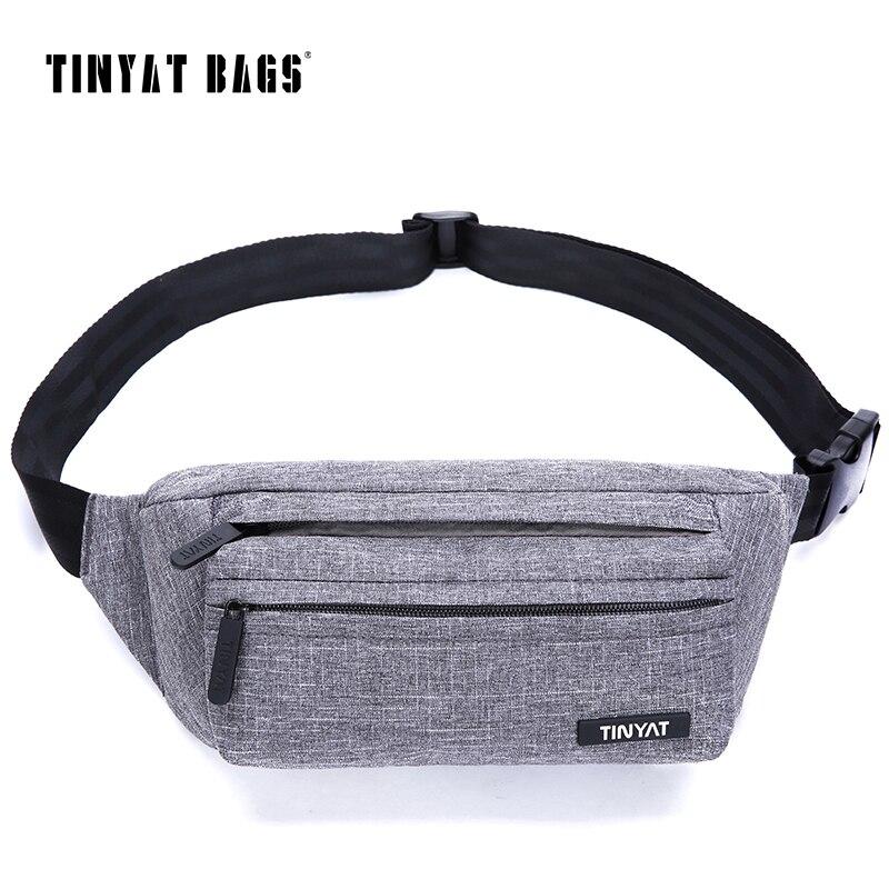 TINYAT Men Male Waist Bag Super Light Belt Pack Bag New Adju