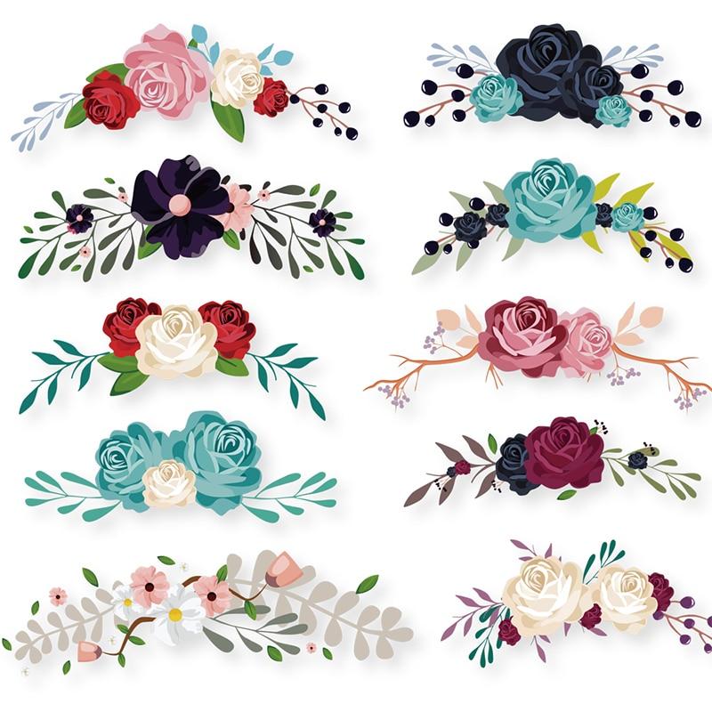 COSBILL-Parches de flores para ropa, 10 unidades de accesorios de decoración de flores de colores, lavables A nivel Y-083