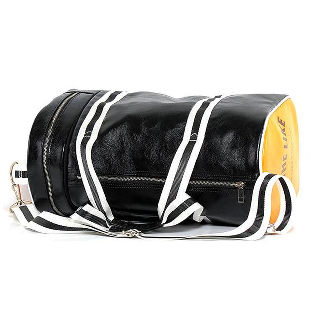 PU Barrel Gym Bag