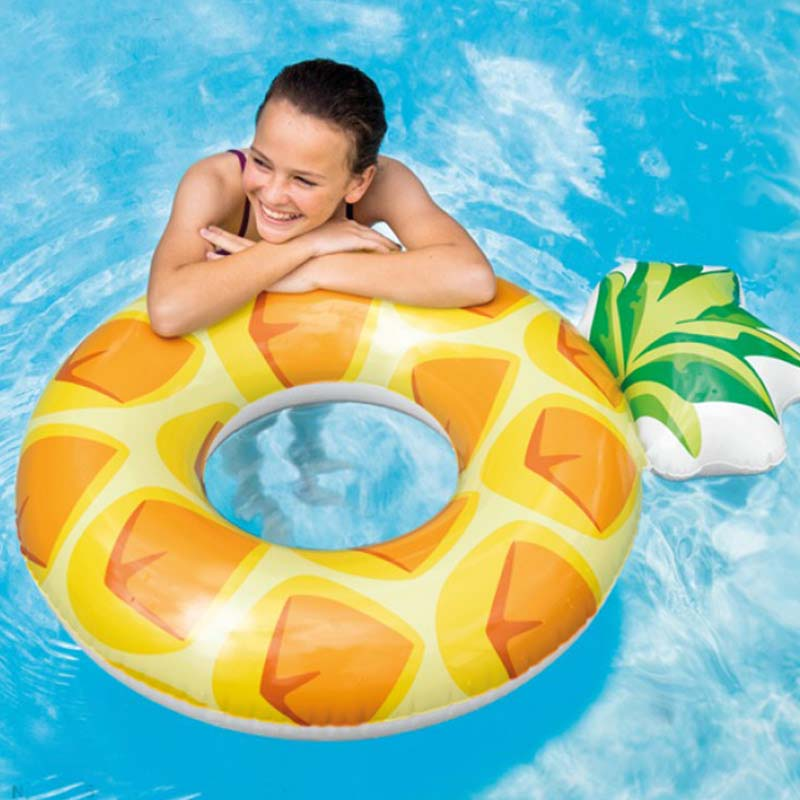 2018 Newest Inflatable Pineapple Swimming Ring For Adults Summer Beach Party Swimming Circle Water Sports Lifebuoy Float Piscine