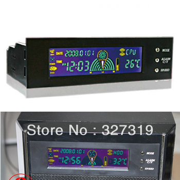 "Hotsale 5.25"" LCD Panel Fan Speed Controller CPU HD C/F Temp Temperature Sensor FOR PC"